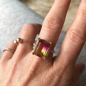 Multicoloured fashion ring